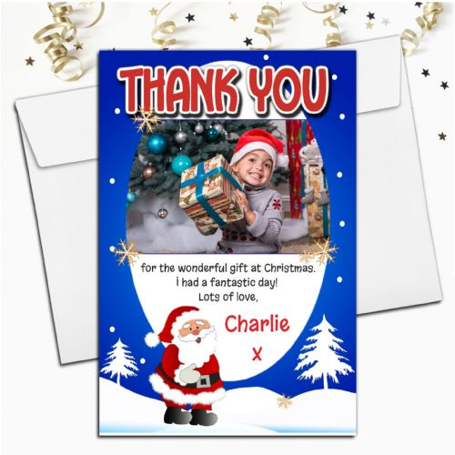 10 Personalised Christmas Xmas Thank you PHOTO Cards N5